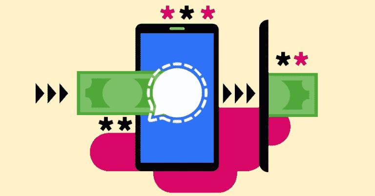 Signal probando un sistema de pago mediante criptomoneda (MobileCoin)